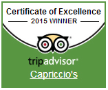 Capriccio 2015 Certificate of Excellence