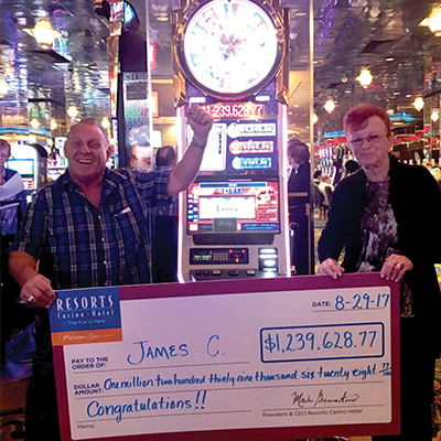 Sweepstakes and Casino Jackpot Winners | Resorts AC