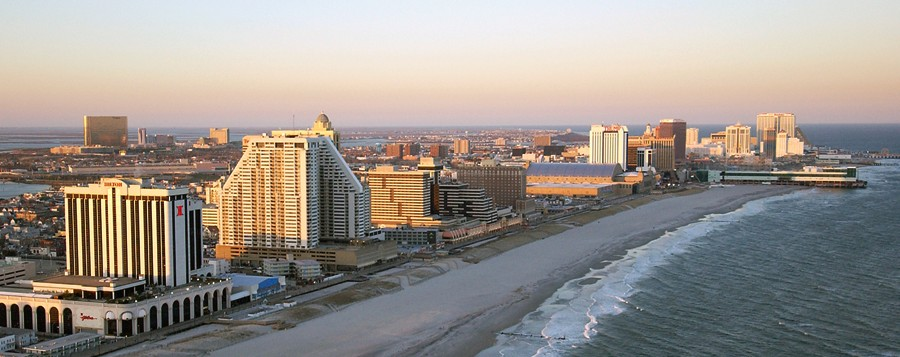 atlantic city boardwalk beach sky view - Resorts Hotel Atlantic City